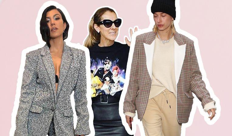 Kourtney Kardashian, Céline Dion en Hailey Bieber allemaal in een kledingstuk van Filles A Papa.