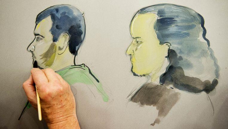 De verdachten Omar H. en Mohammed G. Volgens het OM wilden ze voor de djihad naar Syrië afreizen. Beeld anp