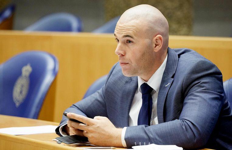 Joram van Klaveren in de Tweede Kamer. Beeld anp