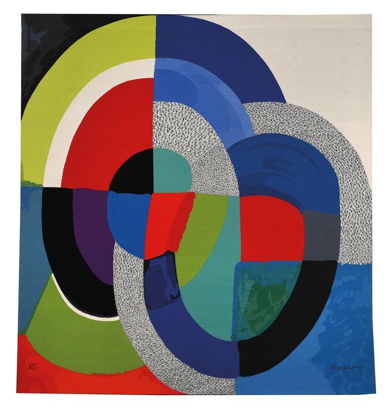 'Panel 1954' van Sonia Delaunay. Beeld Pracusafoto/Isabelle Bideau