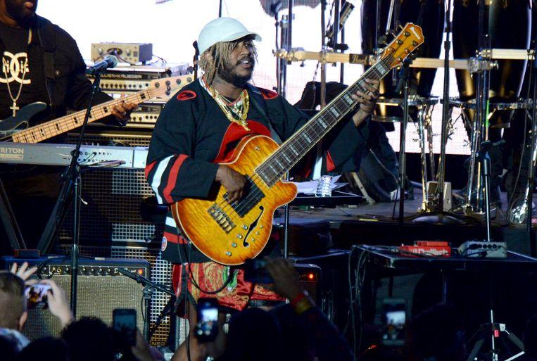 Thundercat tijdens het concert voor Mac Miller: 'A Celebration of Life' in Los Angeles.