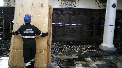 Lichtspots oorzaak van brand Carolus Borromeuskerk