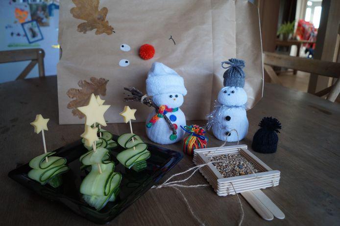 Enkele creaties uit de glunderpakketjes van Lien
