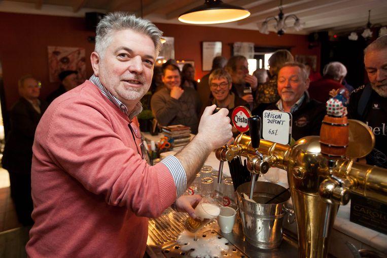 Cafébaas Patrick Antoniassein baat De Kunstemaecker uit, waar het verjaardagsfeest plaatsvond.
