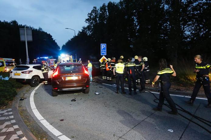 Er waren drie auto's betrokken bij het ongeval