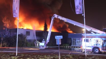 VIDEO. Gemeentelijk rampenplan afgekondigd na zware uitslaande industriebrand in Erpe-Mere