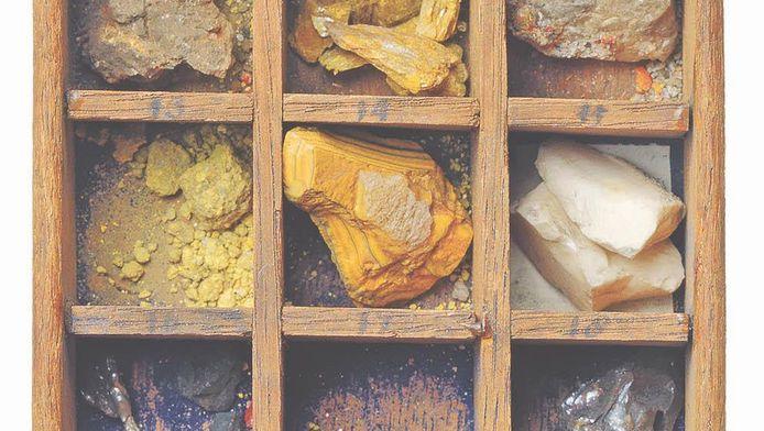 Ook kobaltmineralen werden in de verborgen lades aangetroffen