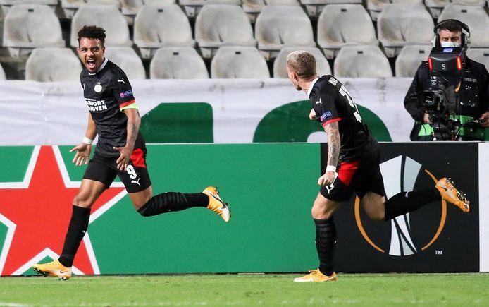 Malen scoorde tegen Omonia in de 92ste minuut de beslissende 2-1. Nog twee goals en hij komt in de top-5 topscorers van PSV in Europees verband.