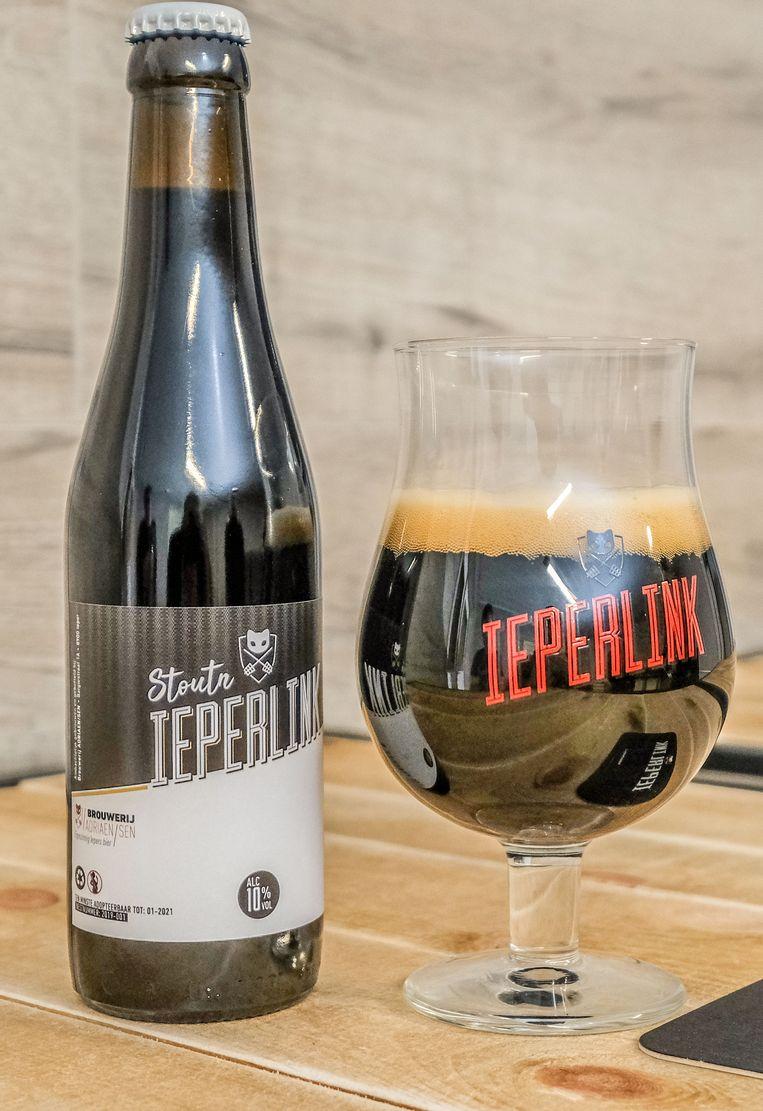 Het nieuwe bier Stoutn Ieperlink viel zo in de smaak dat het al meteen uitverkocht is.