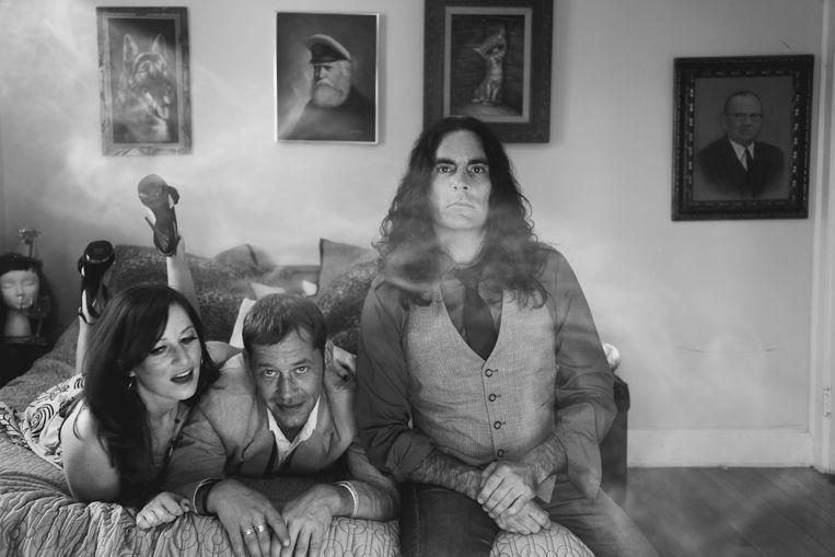 Scarce in 2010, met vanaf links bassist Joyce Raskin,  zanger en gitarist Chick Graning  en drummer Joe Propatier. Beeld Timothy Mahoney