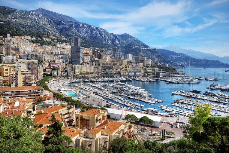 Monaco zicht op de jachthaven