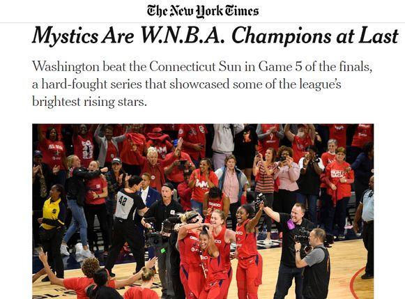 Het artikel van The New York Times.
