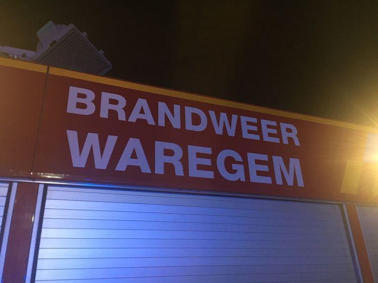 De Waregemse post van de brandweerzone Fluvia was snel ter plaatse.