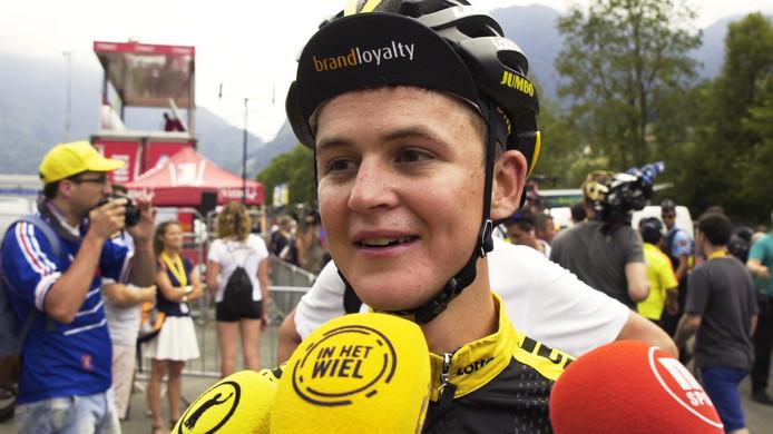 Antwan Tolhoek ging weer met de beste renners mee in de bergen. Zijn Tour is hoe dan ook geslaagd, al kon hij zich dat nog niet helemaal beseffen.