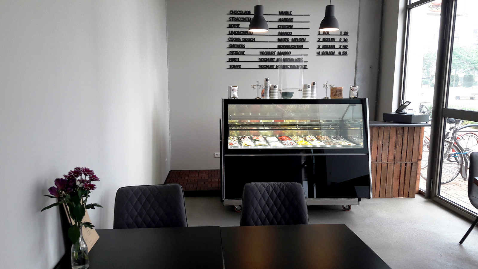 Koffie- en ijsbar L'Oro Nero in het Paleiskwartier