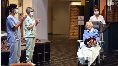 IN BEELD. Erehaag en applaus voor 100-jarige Julia, die Luiks ziekenhuis weer mag verlaten nadat ze van corona genas