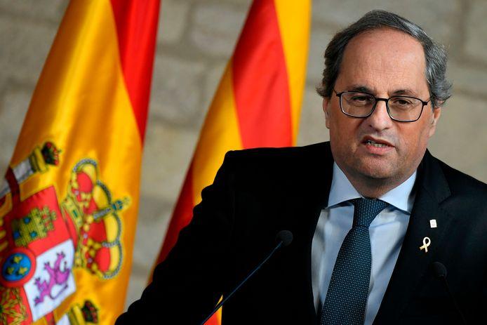 De separatistische regeringsleider van Catalonië Quim Torra.