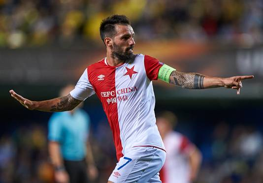 De Portugese spelmaker Danny speelt sinds de zomer voor Slavia Praag.