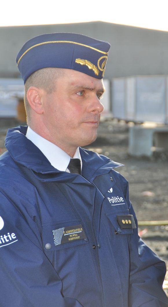 Korpschef Frederik Vandecasteele van de politiezone Mira.