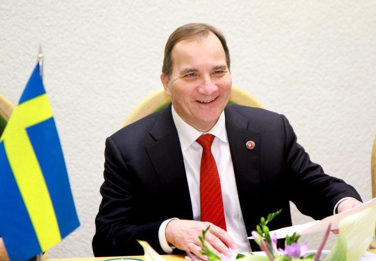De Zweedse minister-president Stefan Lofven beloofde in oktober dat Zweden Palestina als staat zou erkennen. Beeld afp