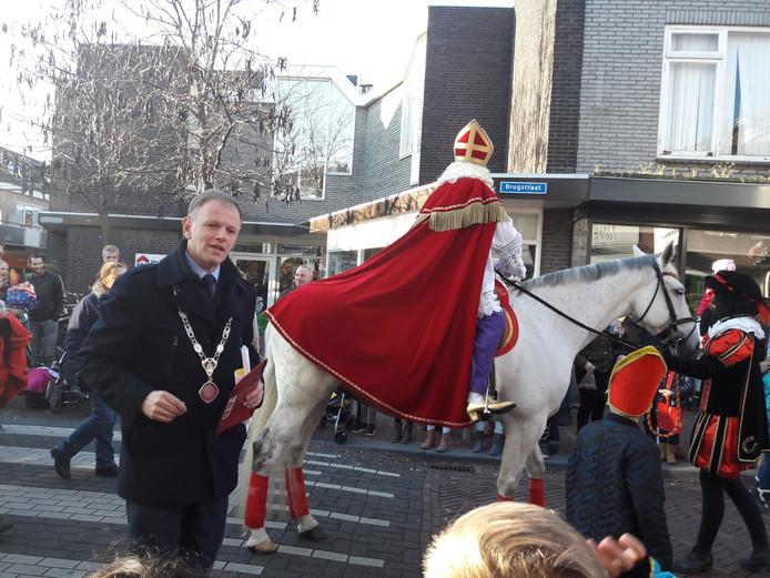 Met burgemeester Christiaan van der Kamp van Bodegraven.