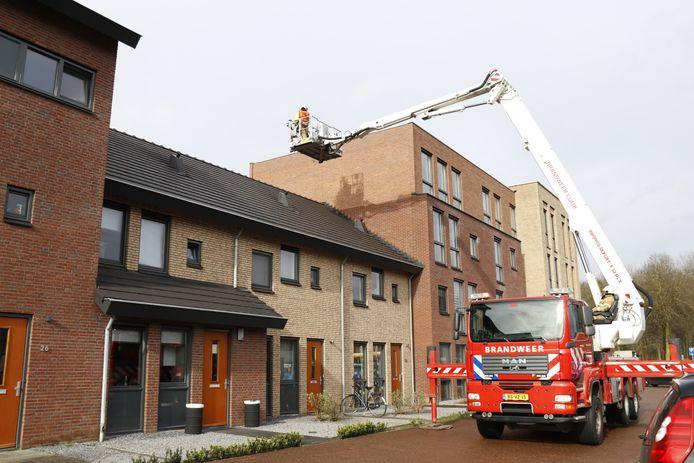 De brandweer van Boxmeer in actie.