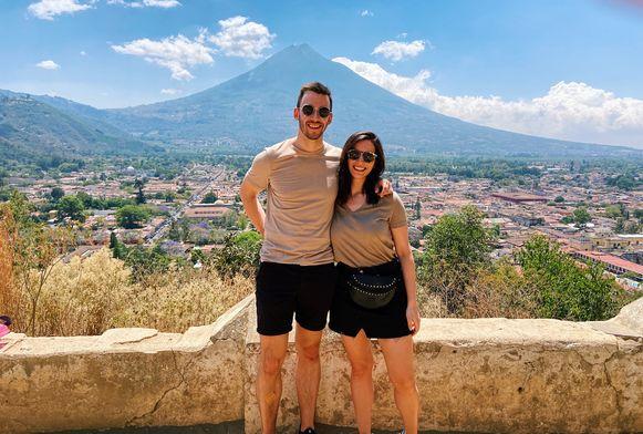 Stijn en Tamara in Guatemala.