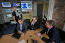 Tinus Kanters met mede-organisatoren van het Living Lab op het Stratumseind in Eindhoven.