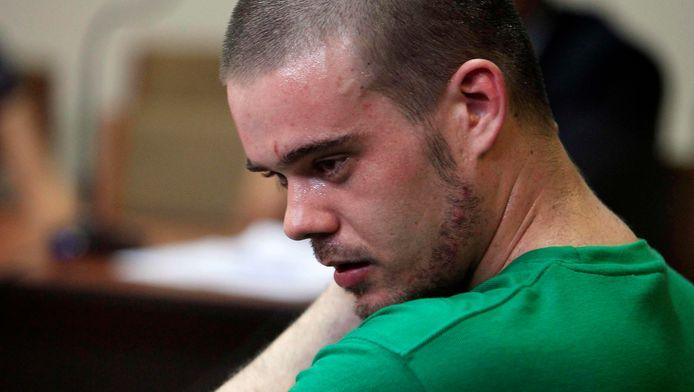 Joran van der Sloot tijdens zijn proces in Peru.