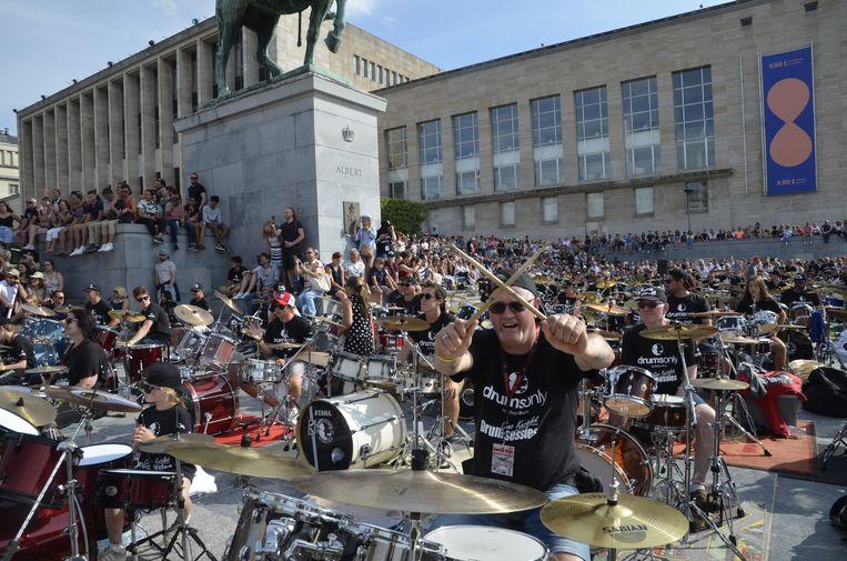 Het was fantastisch om alle drummers van jetje te zien geven op de Kunstberg