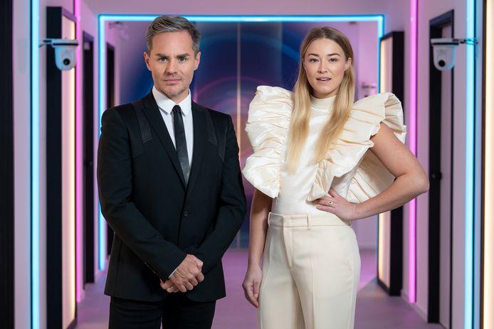 Big Brother-presentatoren Peter Van De Veire en Geraldine Kemper.