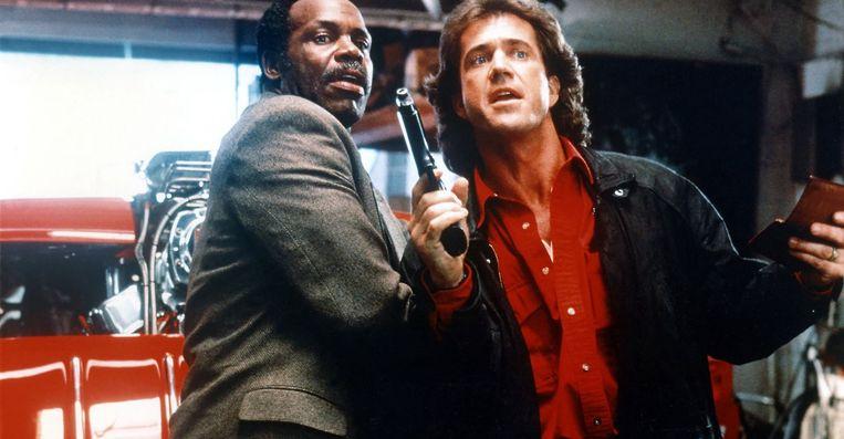 Danny Glover (links) en Mel Gibson in Lethal Weapon 3. Beeld