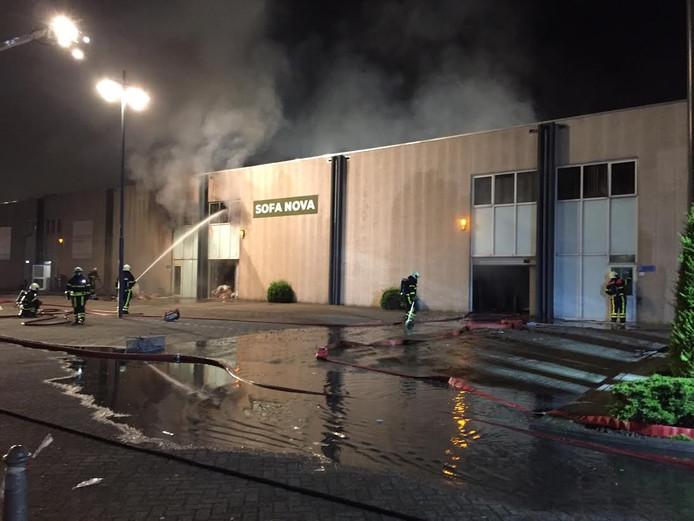 Brand in woonwinkel Breda