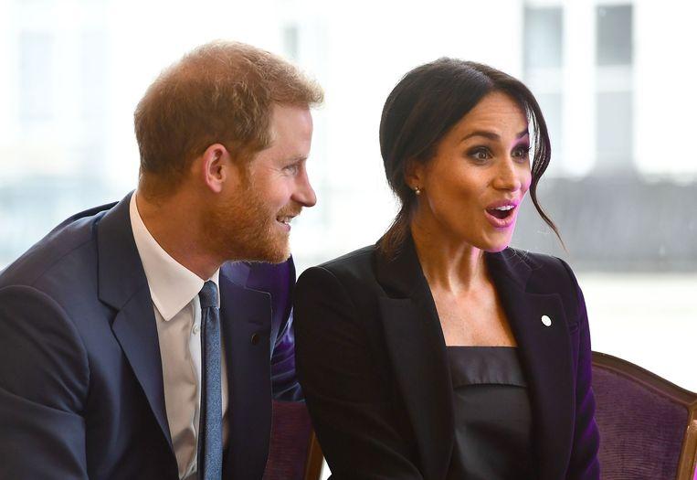 Prins Harry en Meghan Markle op de WellChild Awards 2018 in Londen op 4 september 2018.