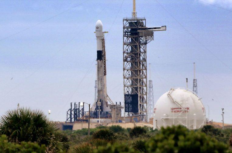 De Falcon-9 draagraket van SpaceX (archiefbeeld).