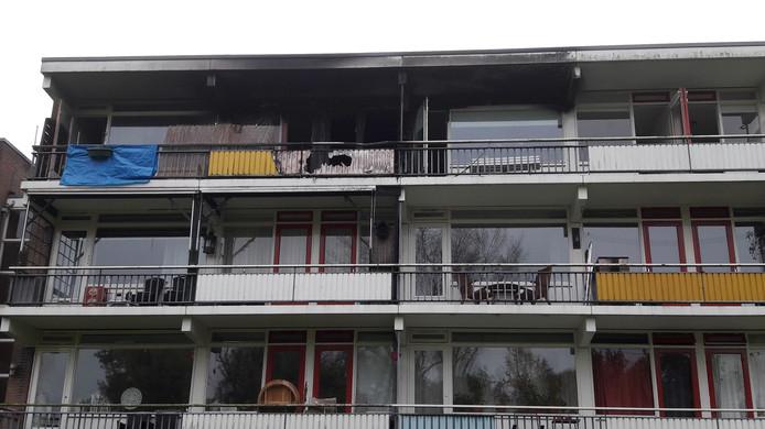 Uitgebrande flat in Zutphen.