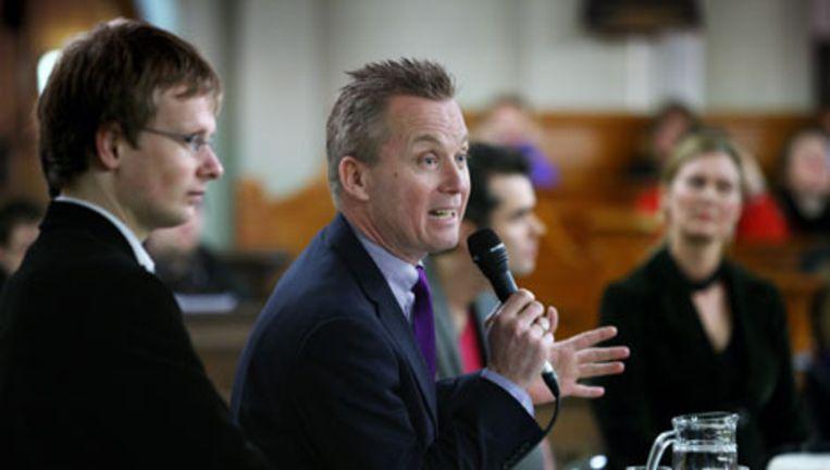 Eric van der Burg tijdens het lijsttrekkersdebat op 10 februari. Foto Jean-Pierre Jans Beeld