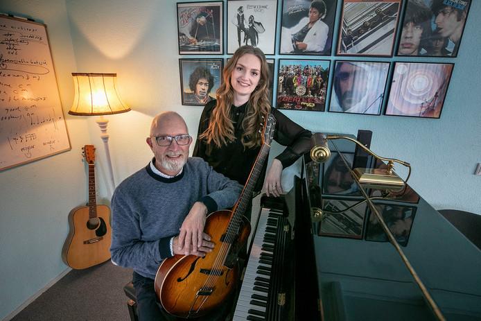 Martien Tielemans en  dochter Leonie.