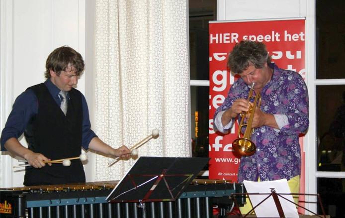 Vibrafonist Vincent Houdijk en trompettist Eric Vloeimans. foto Grachtenfestival