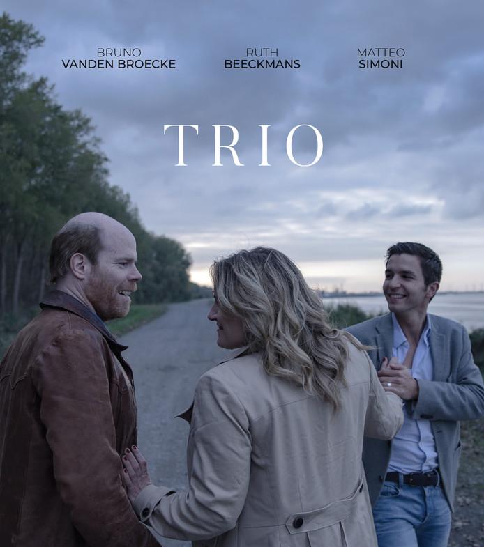 Poster van de openingsfilm van het FilmFestival Zeeuws-Vlaanderen, 'Trio'.