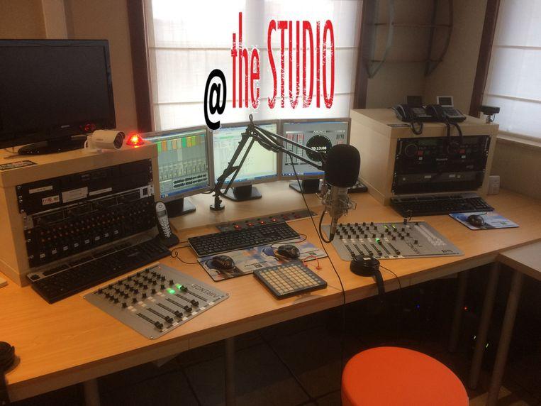 De studio van Radio Meteor