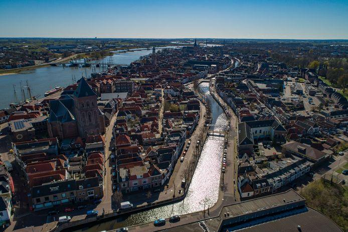 De binnenstad van Kampen.