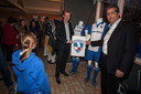 De onthulling van de clubkleuren van de nieuwe vereniging in 2012. Rechts Gerwout Hovenberg (toen nog voorzitter Tempo'41)