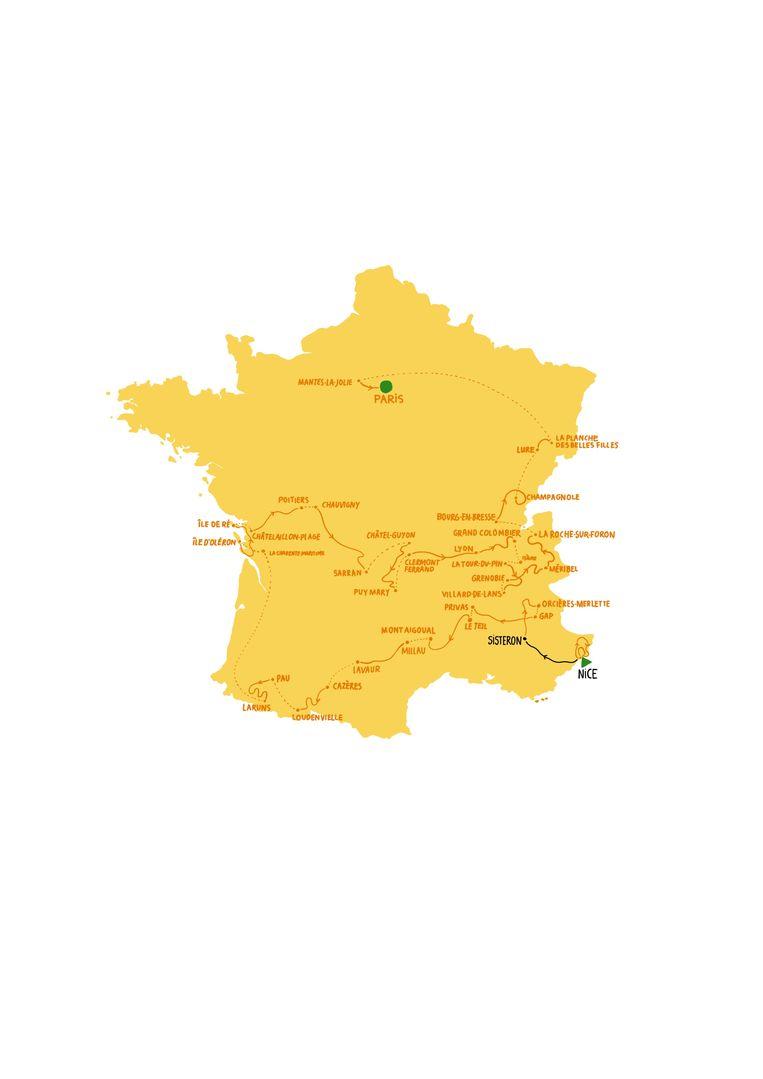Etappe 3, maandag 31 augustus, Nice - Sisteron Beeld Rosa De Weerd
