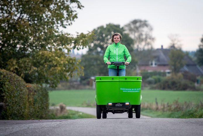 Eigenaresse Johanna Stam van kinderopvang Vossebelt in Holten in haar Stint.