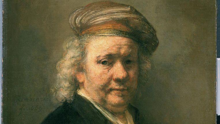 Het laatste zelfportret van Rembrandt uit 1669. Beeld anp
