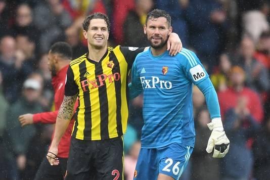 Daryl Janmaat en Ben Foster spelen zaterdagavond (18.30 uur) met Watford thuis tegen Manchester United.