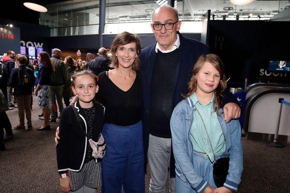 Anja Daems en gezin.