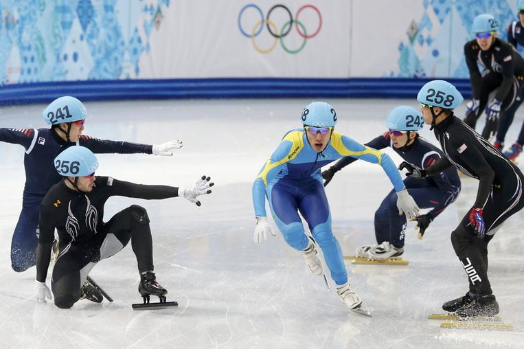 Shorttrackers in Iceberg Skating Palace. Beeld reuters