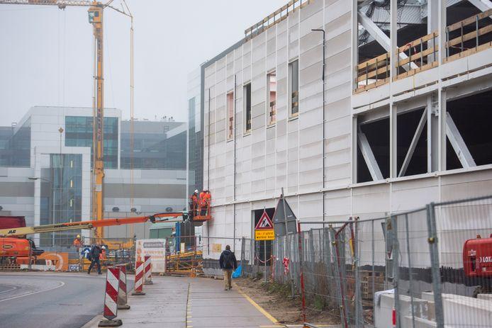 Bouwwerkzaamheden bij ASML in Veldhoven.